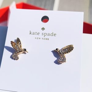 NWT Authentic Kate Spade Hummingbird earnings Gold